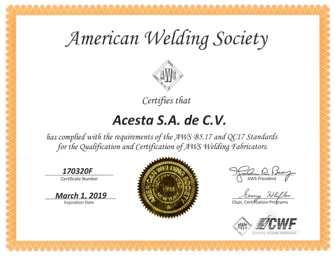 American Welding Society.