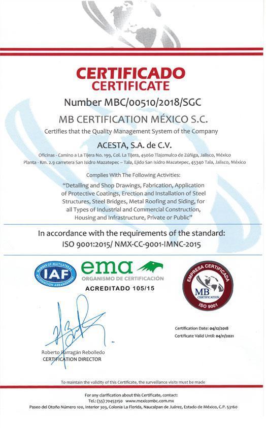 certificado iaf